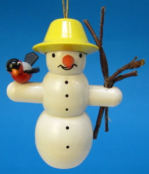 Snowman Twigs Bird Christmas German Ornament ORD199X319X1Y