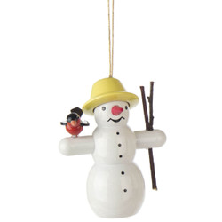 Snowman Twigs Bird Christmas German Ornament