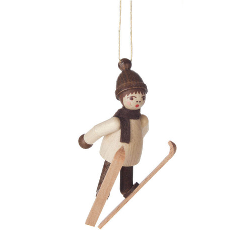 Natural Holiday Sports Children German Ornament Ski Jump