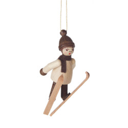Natural Holiday Sports Children German Ornament Ski Jump