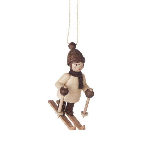 Natural Holiday Sports Children German Ornament Skiing
