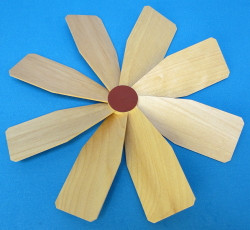 Natural Pyramid Fan Assembly 210mm RP085X409NATFA