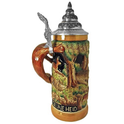 Hunt Scene German Beer Stein