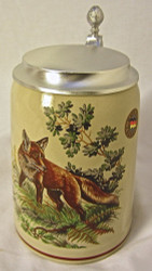 Fox Hunting Scene German Beer Stein