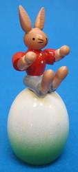 Boy Rabbit Sitting on Egg