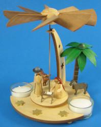 German Nativity Pyramid TeaLight Candles