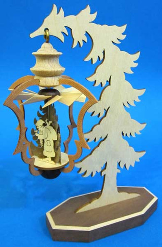 Mini Warm Air Santa Tree German Pyramid PYD074X153X1