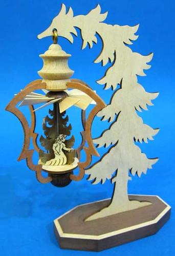 Mini Warm Air Nativity Tree German Pyramid PYD074X153X2