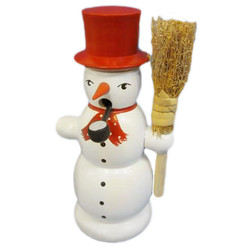 Red Hat Snowman Broom German Smoker SMD146X805RH