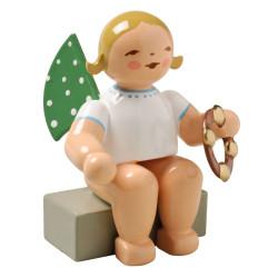 Blonde Angel Tambourine Figurine Wendt Kuhn Sitting FGW650X57A