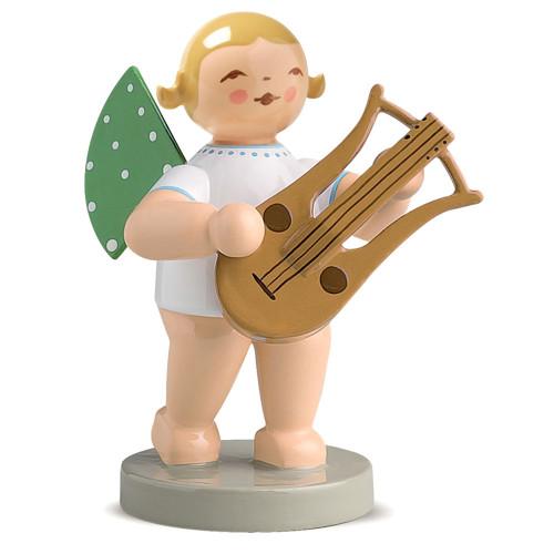 Blonde Angel Lyre Figurine Wendt Kuhn Standing FGW650X68