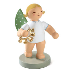 Blonde Angel Bell Wreath Figurine Wendt Kuhn Standing FGW650X73