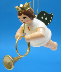 English Horn Angel Christmas Hanging Ornament ORD002X28416EH