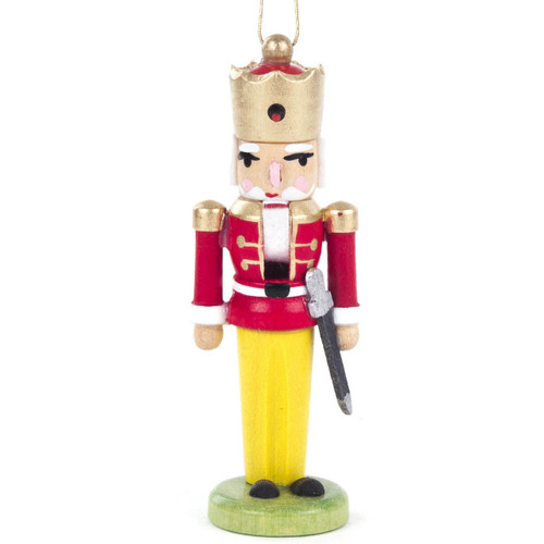 Nutcracker King Ornament Red Jacket Sword ORD074X038F