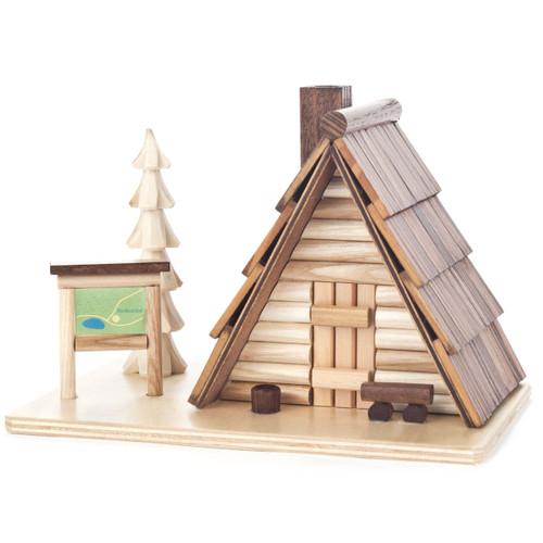 AFrame Wooden Cabin German Smoker SMD146X1208