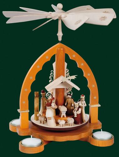 Natural Arch Christmas Nativity Pyramid PYR160X93