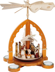 Natural Arch Christmas Nativity Pyramid PYR160X93