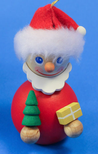 Red Mini Santa German Ornament ORR135X68