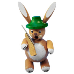 Green Hat Hunter Bunny Rabbit German Smoker SMR131X22