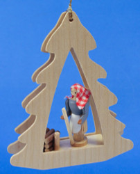 Woods Woman Tree German Christmas Ornament ORR134X43
