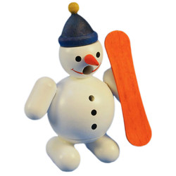 Mini Snowman Snow Boarder German Smoker SMR263X84