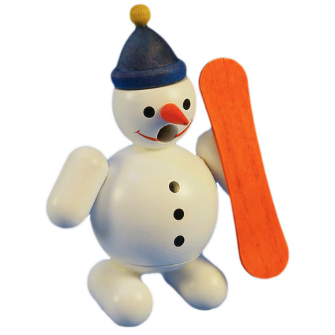 Mini Snowman Snow Boarder German Smoker SMR263X84