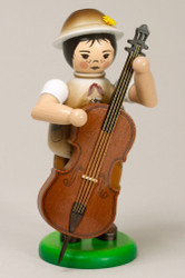 Boy Playing Bass Figurine