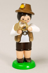 Boy Playing French Horn German Figurine FGZ232X129W