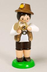 Boy Playing French Horn German Figurine FGZ232X129W