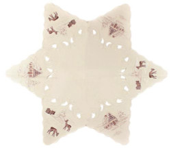 Christmas Winter German Linen Table Star LNWINTERWELT75ST