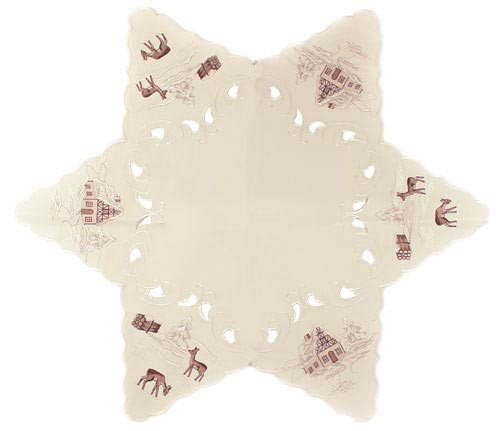 Christmas Winter German Linen Table Star LNWINTERWELT75ST