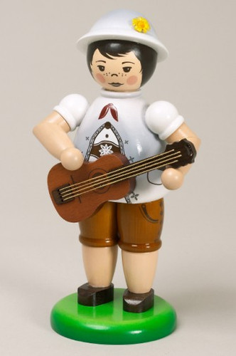 Boy Playing Guitar Figurine