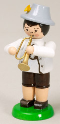 Boy Playing Trumpet Figurine