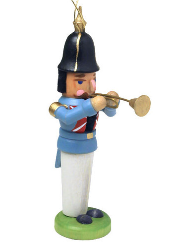 German Trumpet Nutcracker Ornament ORD074X193X2F