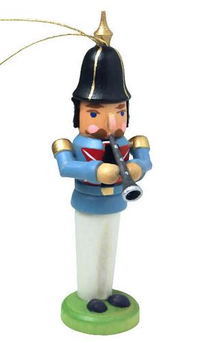 German Clarinet Nutcracker Ornament ORD074X193X3F