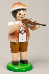 Boy Playing Violin Figurine