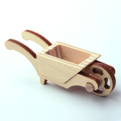 Wooden Wooden German Figurine WheelBarrow