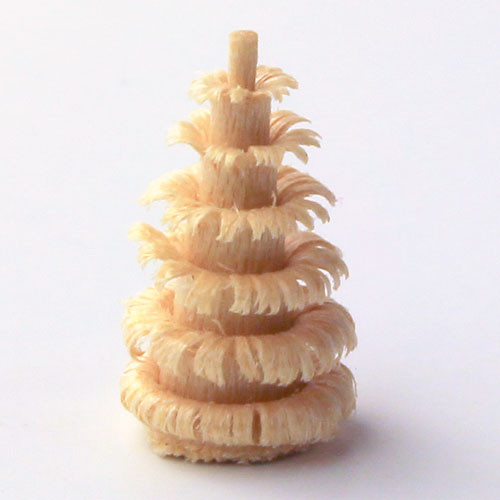 Wooden Shaved Tree German Figurine 15mm