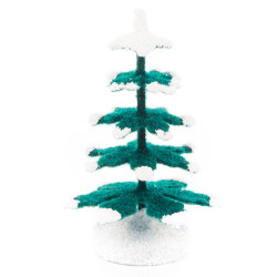 Wooden German Green Tree with Snow 65mm