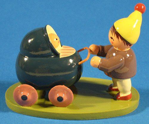 Boy Stroller Figurine