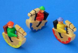 Wooden German Tiny Handmade Rocking Horse Set of Three