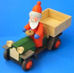 Handmade Santa on Wooden German Truck Figurine
