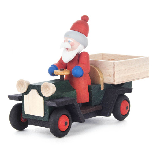 Handmade Santa on Wooden German Truck Figurine