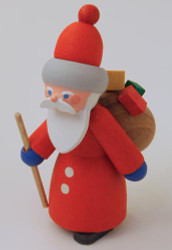 Wooden German Fun Time Santa Figurine Handmade 70mm