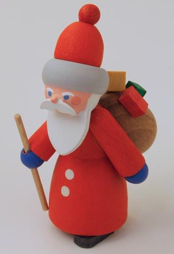 Wooden German Fun Time Santa Figurine Handmade 70mm