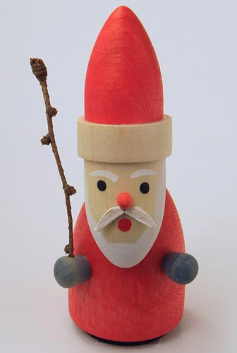 Wooden German Swedish Santa Figurine