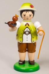 Boy With Bird Yellow Figurine