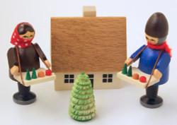 Wooden German Village Market Kid Set Figurine
