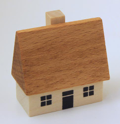 Wooden German House Figure