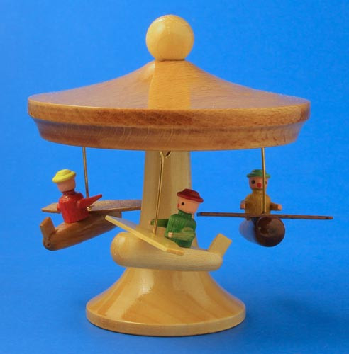 Airplane Carousel 3 inch Wooden German Figurine